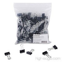 "2019 ""Small Binder Clips  Steel Wire  3/8"""" Capacity  3/4"""" Wide  Black/Silver  144/Pack"" - B00FHLUQHE"