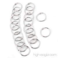 20PCS Hinged Segment Rings 3 Sizes Metal Hinged Ring Book Binder Split Key Rings Album Scrapbook Loose Leaf Clip(38mm) - B07FCLR3WJ