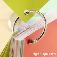 50 PCS Loose Leaf Book Ring/Binder Ring DIY Photo Album Rings/Book Calendar Circle Nickel-Plated Steel Rings/Key Rings 0.75 Inch Diameter - B0714LQN44