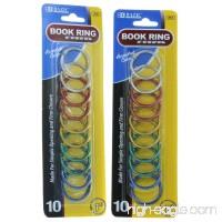 "Bazic 1"" Metal Book Rings Lot of 20 Assorted Colors # 212 - B0160575YC"