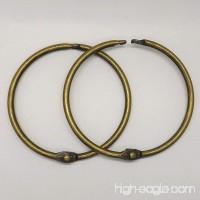 Bronze 10pcs Loose Leaf Book Binder Ring Clips Key Ring for DIY Notebook Binding (2-1/2in.) - B0765WFMTW