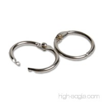Charles Leonard Loose Leaf Rings with Snap Closure  Nickel Plated  0.50 Inch Diameter  Silver  100-Pack (R09) - B001QOGZFI