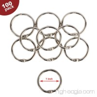 Eagle Loose Leaf Binder Rings  Book Rings  Keychain  Key Rings  1-Inch Diameter  100 Rings  Silver  Holiday Gift Set (1-Inch) - B06XRWHMLZ