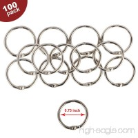 Eagle Loose Leaf Binder Rings  Book Rings  Keychain  Key Rings  3/4-Inch Diameter  100 Rings  Silver  Holiday Gift Set (0.75-Inch) - B06XRXRD9K