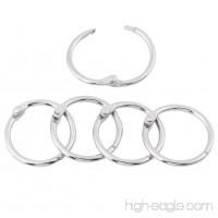 Hinged Rings Binder/Split Rings for DIY Scrapbook/Photo Album/Memo/Menu Craft Seamless Nickel Plated Metal 3 Size 20 Pcs (30mm Dia) - B075R5KJLK