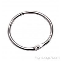 Kcxsy Book Binder Rings Metal Round Photo Album Ring Loose Leaf Binder Ring  Silver  12 Pieces (1.5 inch) - B077Q6P336