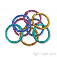 The Classics 1-Inch Diameter 50 Count Book Rings in Assorted Bright Colors (TPG-189) - B008RNE4W2