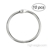 ULTNICE 10pcs Loose Leaf Binder Rings Metal Ring Binder for Photo Paper Organization - B0771JJFYF