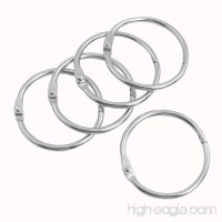 uxcell Metal 0 Shape Notebook File Loose Leaf Ring 38mm Outer Dia 5 Pcs Sliver Tone - B00ARBL31C