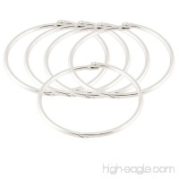 Uxcell Metal Bundle Book Rings Keyrings  3.5-Inch  5 Pieces  Silver Tone - B00MA1ADL8
