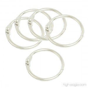 Uxcell Scrapbooking Binder Rings 0.9-Inch 5 Pieces Silver Tone - B00MA1DY9Q