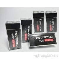 5 PIECES Premium Staedtler DUST-FREE Pencil Eraser  For Effective & Clean Erasing  Excellent Clean for Exam Grade  Back To School [Pack of 5] - B07769M5KK