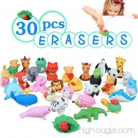 Acekid Animal Erasers for Kids 30pcs Japanese Pencil Erasers Set Cute Mini Puzzle Eraser Toys for Novelty Party and School Supplies - B071W2SF4D