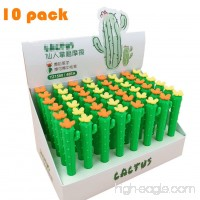 FANCYLEO Cartoon Cactus Erasers  10 Pack Pencil Eraser Set Puzzle Gel Pen Eraser Toys for Novelty Party and School Supplies  Random - B07DLRF763