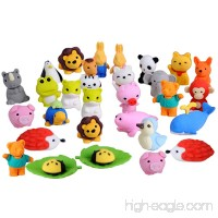 Gosear 30 PCS 30 Styles Funny Puzzle Animals Pencil Erasers Puzzle Toys for Party Favors Games Prizes Carnivals Gift School Supplies - B07435QD32