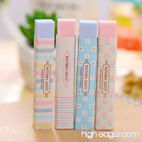 Yuyahu 1PC Stripe Office Colourful Rubber Erasers Stationery Gift for Student New - B07FQNNXV7