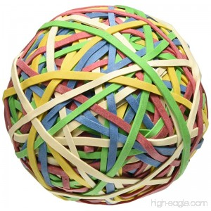 ACCO Rubber Band Ball 275 Bands per Ball Assorted Colors (A7072153) - B001CIBPOY