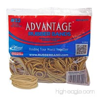 "Alliance Rubber 00721 Advantage Rubber Bands Size #32  1/2 lb Bag Contains Approx. 350 Bands (3"" x 1/8""  Natural Crepe) - B01FZKJQM2"