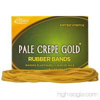 Alliance Rubber 21409 Pale Crepe Gold Rubber Bands Size #117B 1/4 lb Box Contains Approx. 75 Bands (7 x 1/8 Golden Crepe) - B00007LB2J