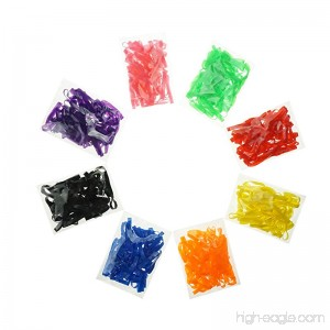 Colorful Rubber Bands Assorted 8 Bright Colors Fire Bands for Kids Crafts Office 400 Pieces by ZXSWEET - B075FNRXNW