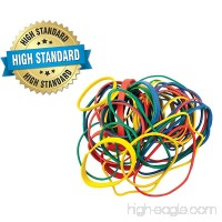 Get Organized 1/2 lb Pack of Colorful Rubber Bands - Assorted Dimensions  Multi Color Variety- Ideal for Tye Dye - By - B072QRHXFX