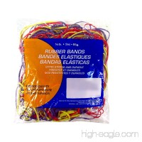 Northland Wholesale Assorted Dimensions  Multi-color  85g  Approx. 150 Rubber Bands - B01M7P04H6