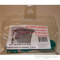 Super Big Mouth Trash Bags Rubber Bands 5-Pack Fits 64 - 80 Gallon Cans / Carts - B011BSCSDG