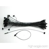 5 BLACK Snap Lock Pin Security Loop Plastic Tag Fastener (5000 Pc) - B007OWVHJ0