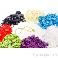 7 700 Pcs Mix Color Hang Tag Nylon String Snap Lock Pin Loop Fastener Hook Ties - B00OLNS3S8