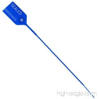 8in Pull Tight Security Seal - Blue w/Numbering - B07DY58H57