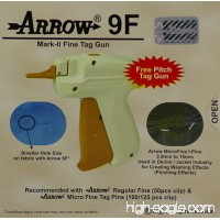 Arrow 9F FINE Mark II Tag Gun +1000 ( Size 15mm ) ( 3/4 ) White Barbs ( Fasteners ) Price Label Clothing Tagging Attacher with Needle Combo - B00FF0AZVO