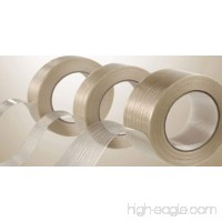"24 Rolls Filament Reinforced Tape 3/4"" x 60 Yards 3.9 Mil Fiberglass Packing - B00EFUI3WS"