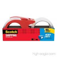 3M Scotch Heavy Duty Shipping Packaging Tape with Dispenser 1.88 Inch by 38.2 Yard (3850S-2-1RD) - B00006XY3C