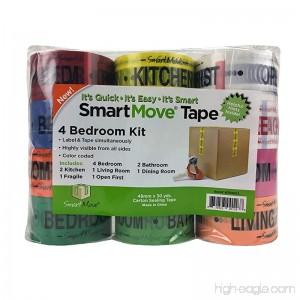 4 Bedroom Labeling Tape Living Room Packing Tape Bathroom Moving Supplies - B007PBKEMG