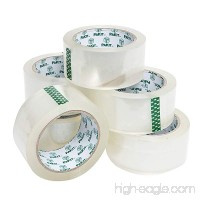 "6 Rolls of Heavy Duty Clear Packaging Tape for Parcels and Boxes EXTRA STICKY! • 2"" x 72 Yards per Roll! by Pakit - B01FE2ISFC"