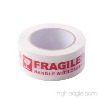 AGU Warning Fragile Tape-Handle with Care Packing Printing Tape-2 Inch x 330 Feet (110 Yards) -1 Roll - B06Y3TYPC1