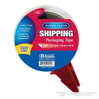 """BAZIC 1.88"""" x 27.3 Yards Super Clear Heavy Duty Packing Tape with Dispenser - B07DWNMB4D"""