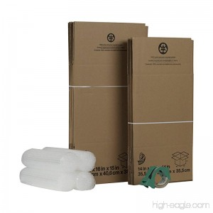 Duck Brand Moving Kit with 12 Boxes 4 Rolls Bubble Wrap 1 Roll HD Clear Packing Tape (280640) - B005C95N1K
