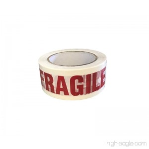 Protak FRAGILE HANDLE WITH CARE Carton Sealing Printed Packing Tape PTF1 2 x 110yds 1 Roll - B075G5P42J