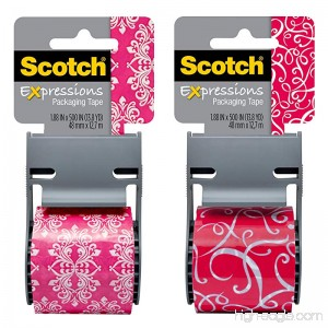 Scotch Decorative Shipping Packaging Tape 1.88 x 500 Inches - B007Z92RYQ
