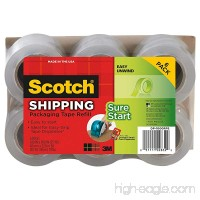 Scotch DP-1000RF6 Packaging Tape  1.88 Inches x 900 Inches (6-Pack) (2  1 1/2 In) - B014G4ASHU