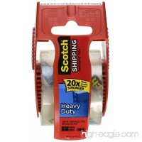 Scotch Heavy Duty Shipping Packaging Tape 1.88 Inch x 800 Inch Clear Pack of 3 - B01MQDIJWV