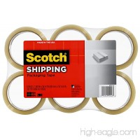 Scotch Lightweight Shipping Packaging Tape  1.88 Inches x 54.6 Yards  6 Rolls (3350-6) - B003MVNNK8