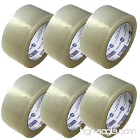 Tag-A-Room Heavy Duty Packaging Tape  Clear Packing Tape Rolls (6)  2 Inch x 55 Yards  Moving Supplies - B071HM57S9