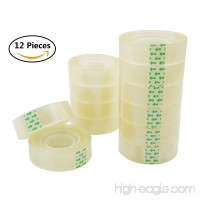 12 Rolls Transparent Tape Clear Tape Heavy Duty Sealing Tape  Each Roll 3/4 inch x 32 Yards - B07F1W78GT