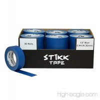 "30 Roll Case 1.5"" x 60yd STIKK Blue Painters Tape 14 Day Clean Release Trim Edge Finishing Masking Tape (1.44 IN 36 MM) - B079F2NXTW"