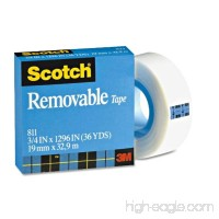 "3M 811 Scotch Magic Removable Tape  Matte Finish  3/4"" x 1296"" - B00006IF61"