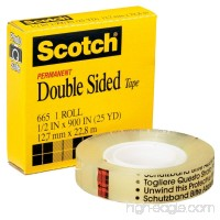 "Double Sided Office Tape  1/2"" x 36 yards  3"" Core  Clear MMM665121296 - B00006IF5N"