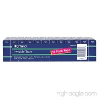 "Highland 6200K12 Invisible Permanent Mending Tape  3/4"" x 1000""  1"" Core  Clear  12/Pack - B00CRE0KCU"