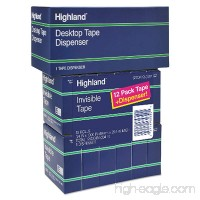 "Highland Invisible Permanent Mending Tape  3/4"" x 1000""  1"" Core  Clear  12/Pack (6200K12DVP) - B00E7LHREK"